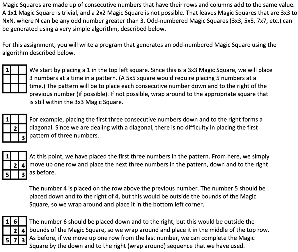 Solved: Magic Squares Are Made Up Of Consecutive Numbers T