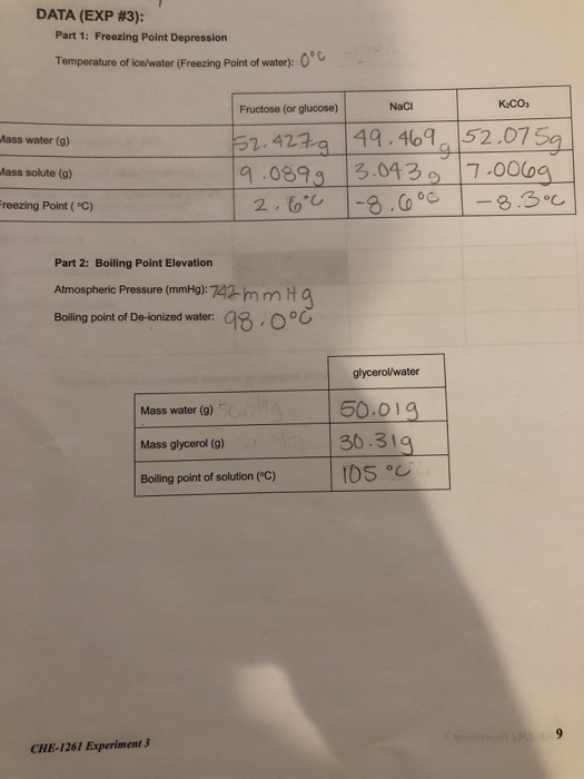 Solved Based On The Data Above How Would I Calculate Mola