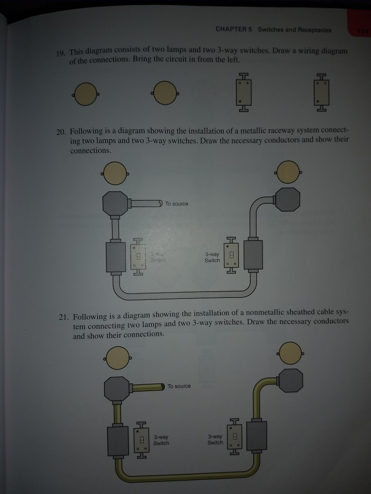 Solved: CHAPTER 5 Switches And Receptacles 19. This Diagra ...
