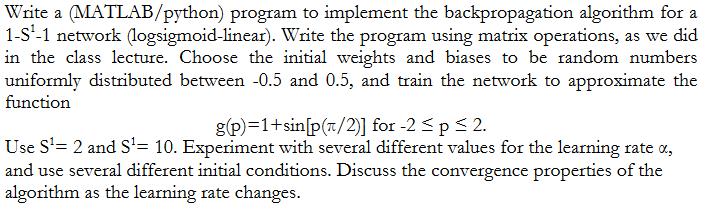 Write A MATLAB/python) Program To Implement The Ba      Chegg com