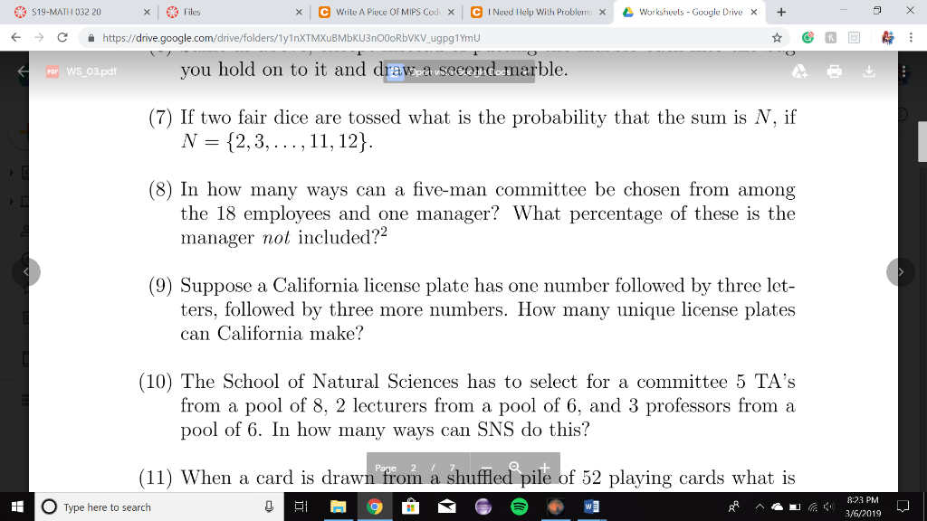 Solved: If Two Fair Dice Are Tossed What Is The Probabilit