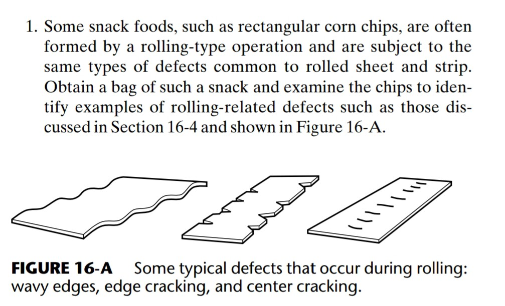 Solved: 1  Some Snack Foods, Such As Rectangular Corn Chip