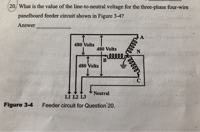 20/ what is the value of the line-to-neutral voltage for the