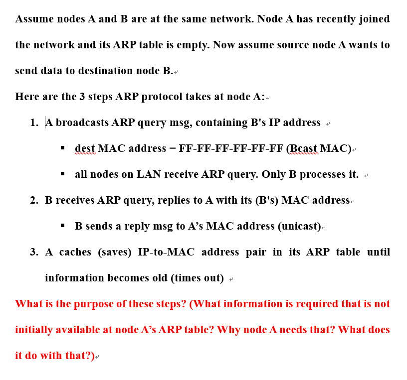 Solved: Assume Nodes A And B Are At The Same Network  Node