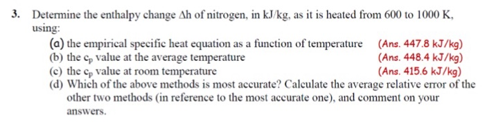to determine enthalpy change essay
