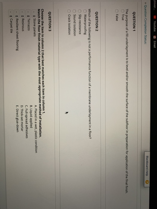 Solved: Univer ⓥ Youtube Email Blackboard Help V Question