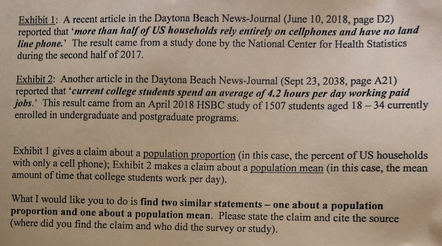 Exhibit 1: A Recent Article In The Daytona Beach N
