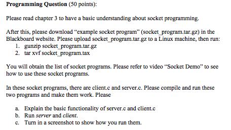 Socket Programming Client c : /* Client c - Code F    | Chegg com