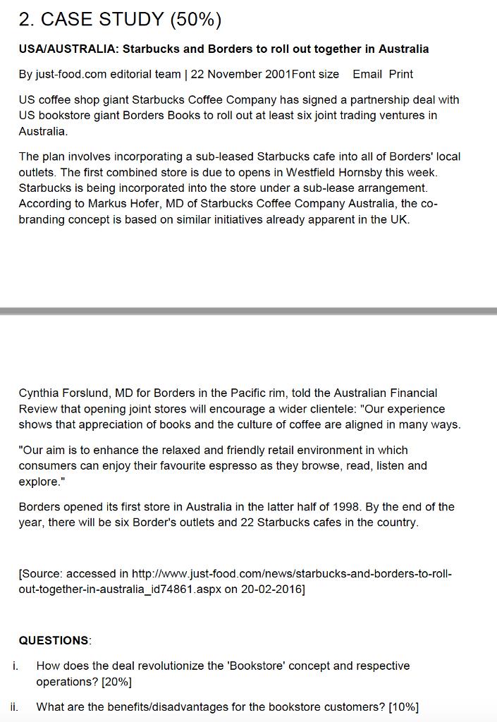 starbucks in australia case study