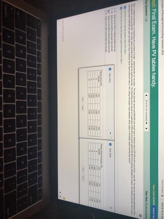 est final exam have pv tables handy this test 5 chegg com