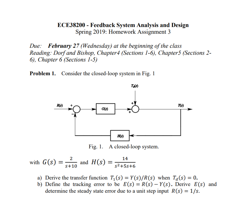 Solved Ece38200 Feedback System Analysis And Design Spr Chegg Com