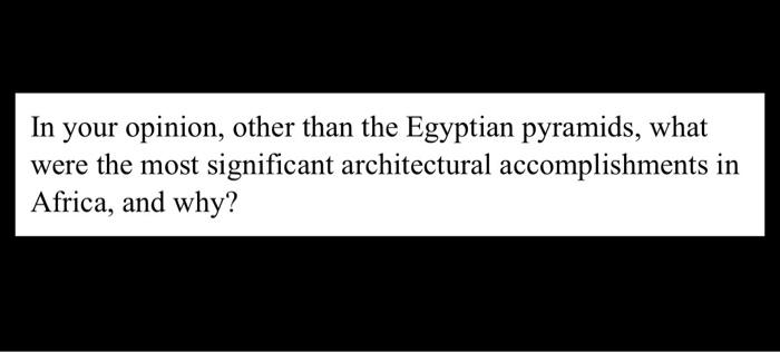 egyptian accomplishments
