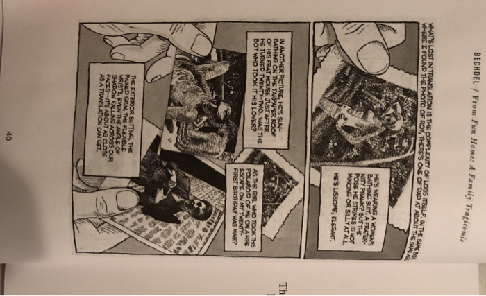 "Solved: Read: Alison Bechdel, From ""Fun Home: A Family Tra"
