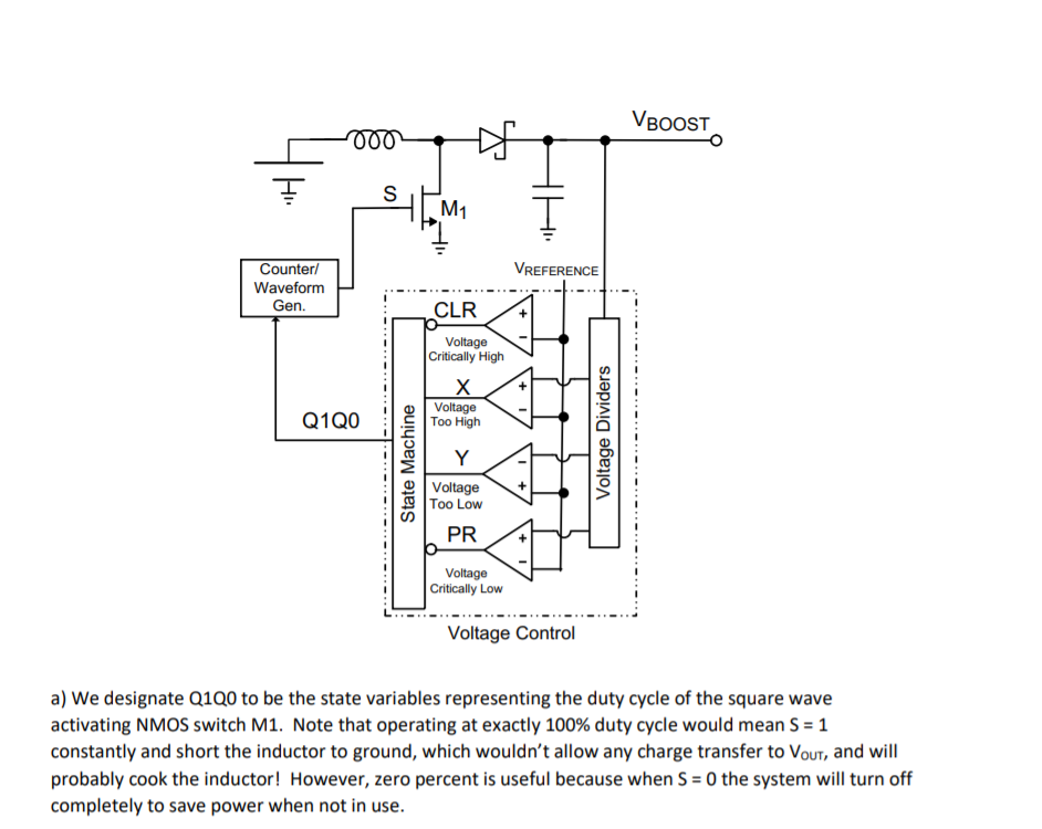Solved: The Following Is A Schematic Of A DC/DC Boost Conv ... on