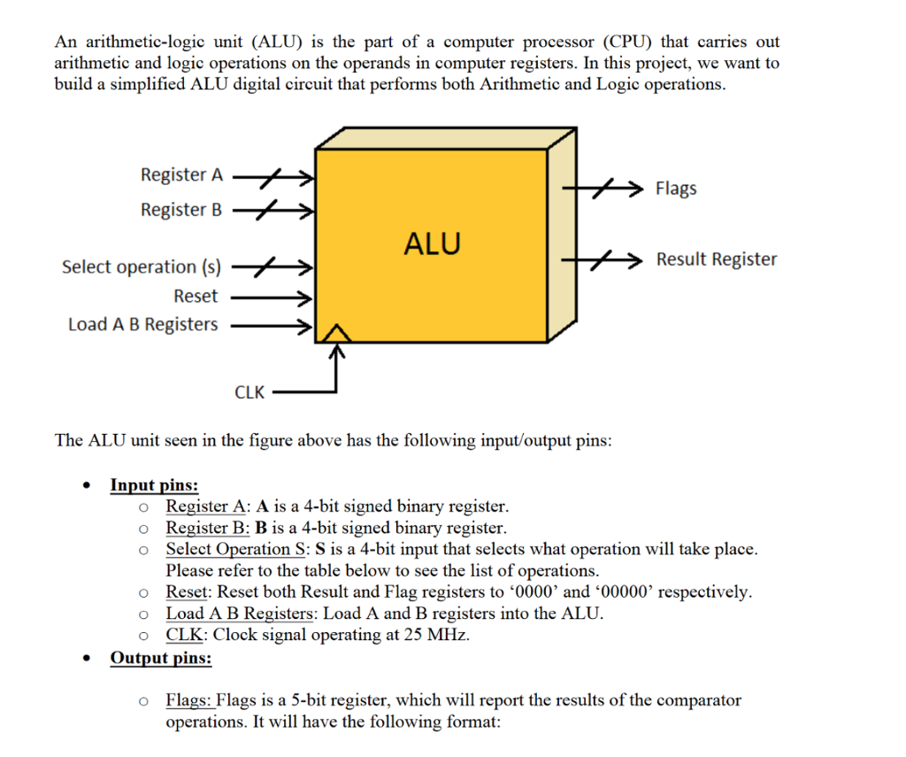 an arithmetic-logic unit (alu) is the part of a computer processor (