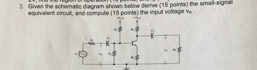 Solved: En The Schematic Diagram Shown Below Derive (15 Po ... on