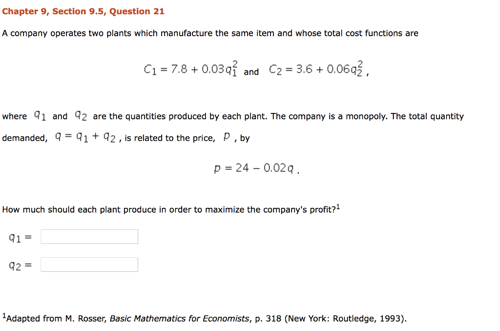 Solved: Chapter 9, Section 9 5, Question 21 A Company Oper