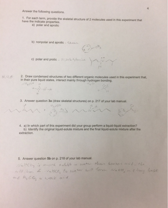 Solved Lab Report Investigating Solubility And Acid Base Chegg Com