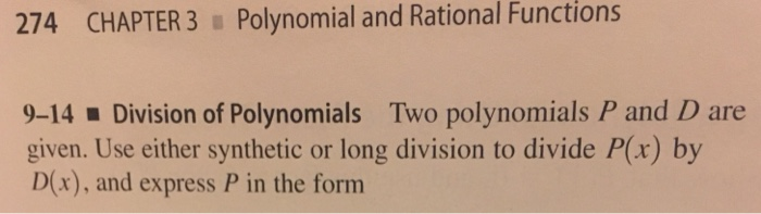 Solved: 274 CHAPTER 3 Polynomial And Rational Functions 9