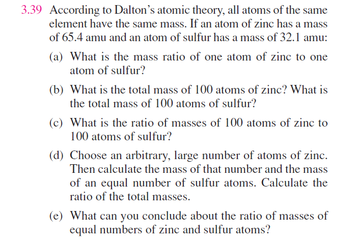 All atomas of the same element have the same