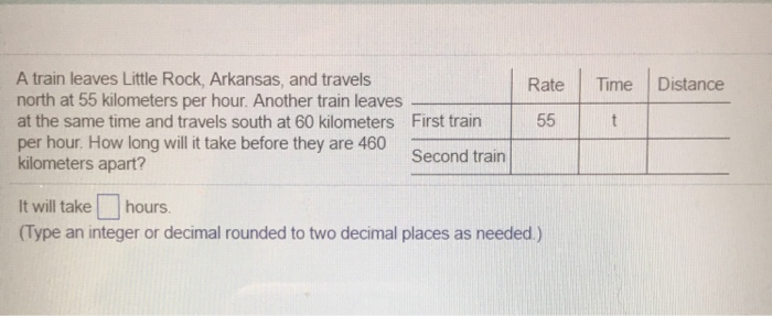 A Train Leaves Little Rock Arkansas And Travels North