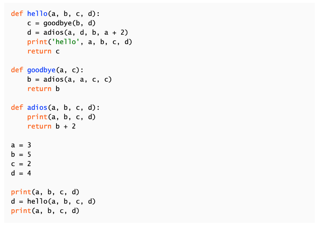 Solved: Python Please Complete The Four Variable Tables So