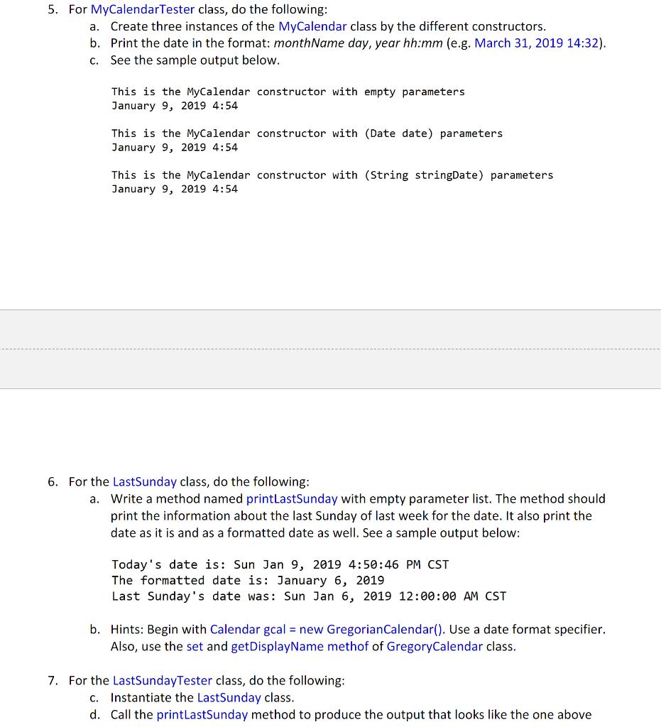 Solved: Problem #1 (15 Points): Date, Calendar, GregorianC