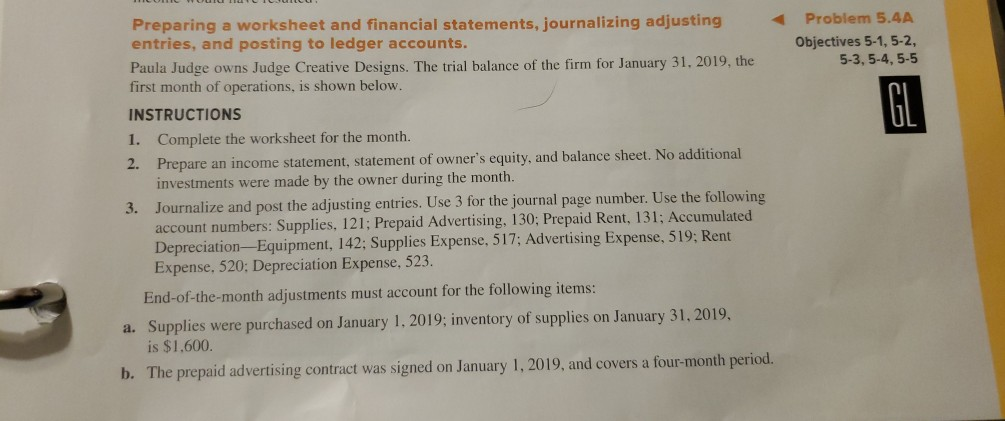 Solved: Preparing A Worksheet And Financial Statements, Jo ...