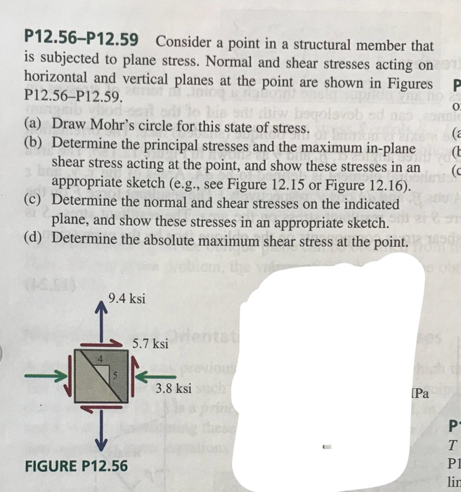 Solved: P12 56-P12 59 Consider A Point In A Structural Mem