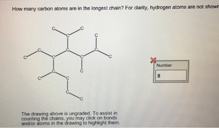 solved how many carbon atoms are in the longest chain fo