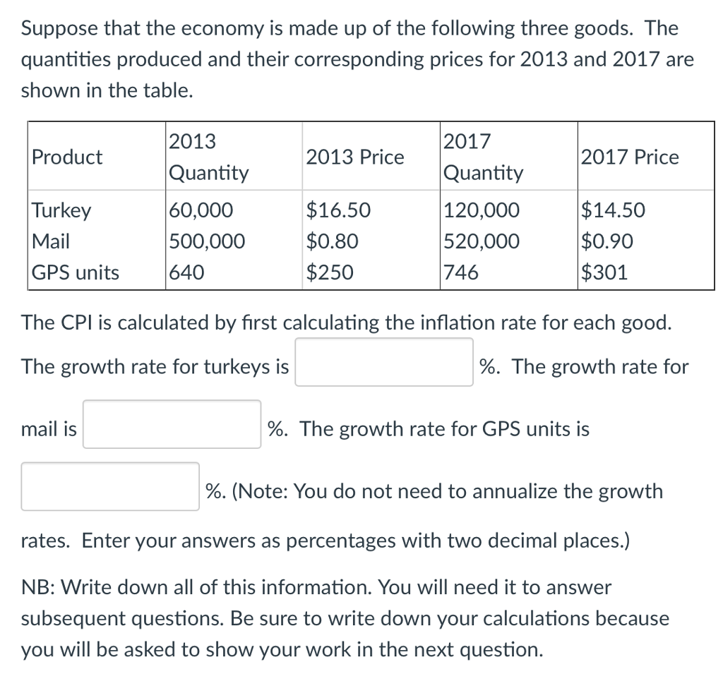 Economics recent questions chegg suppose that the economy is made up of the following three goods the quantities produced fandeluxe Choice Image