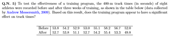 Solved: Q N  5) To Test The Effectiveness Of A Training Pr