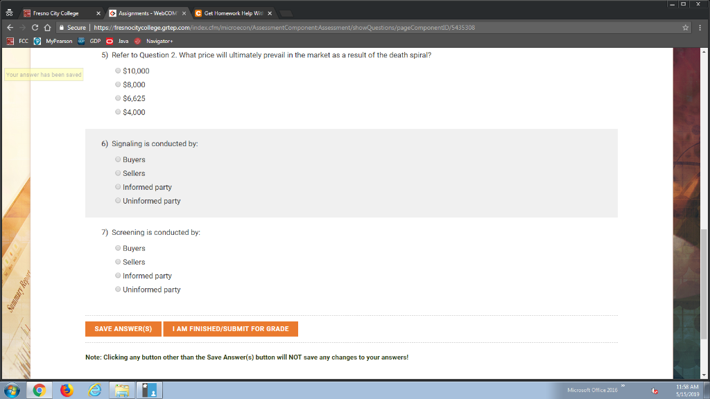 Solved Fresno City College Assignments Webcom Get H
