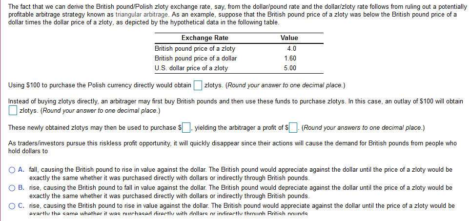 The Fact That We Can Derive British Pound Polish Zloty Exchange Rate