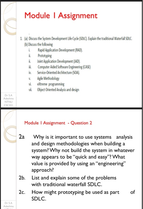 Solved Module L Assignment 1 A Discuss The System Deve Chegg Com
