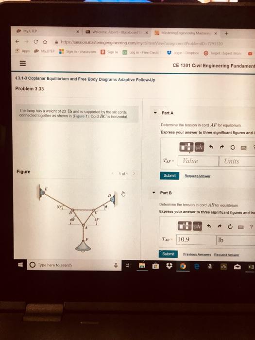 Solved: My UTEP E C Https//session Masteringengineering co