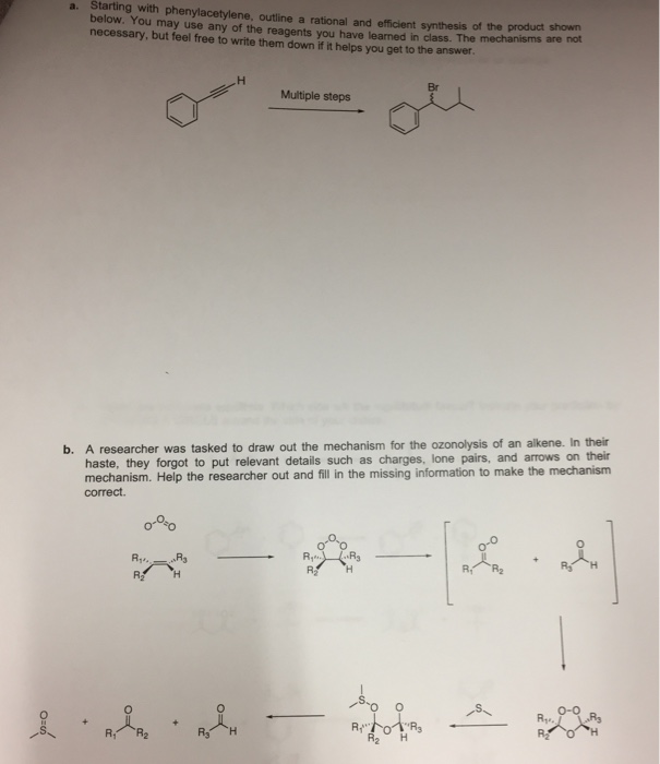 Solved: A  Starting With Phenylacetylene, Outline A Ration