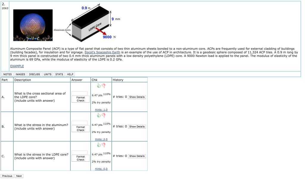 Solved: 2063 0 9 M 9000 N Aluminum Composite Panel (ACP) I