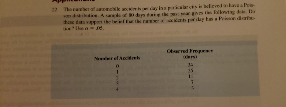 Solved: The Number Of Automobile Accidents Per Day In A Pa