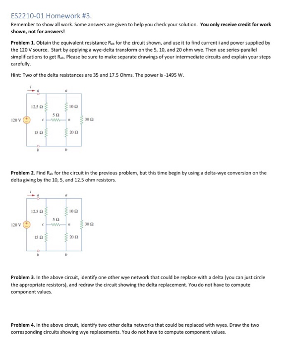 Solved: ES2210-01 Homework #3 Remember To Show All Work  S