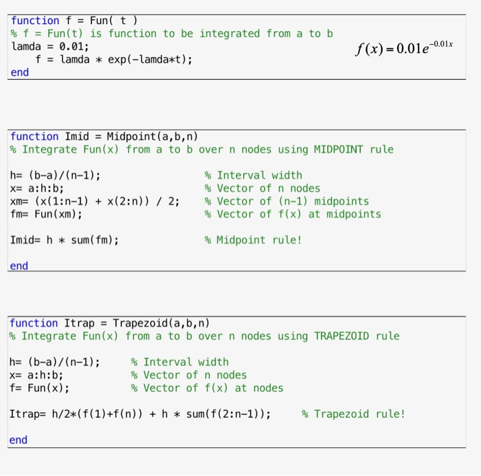 Computational Integration: MATLAB (Simpson's Metho