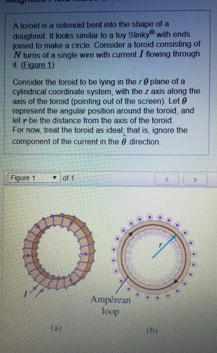 Solved: A Toroid Is A Solenoid Bent Into The Shape Of A Do