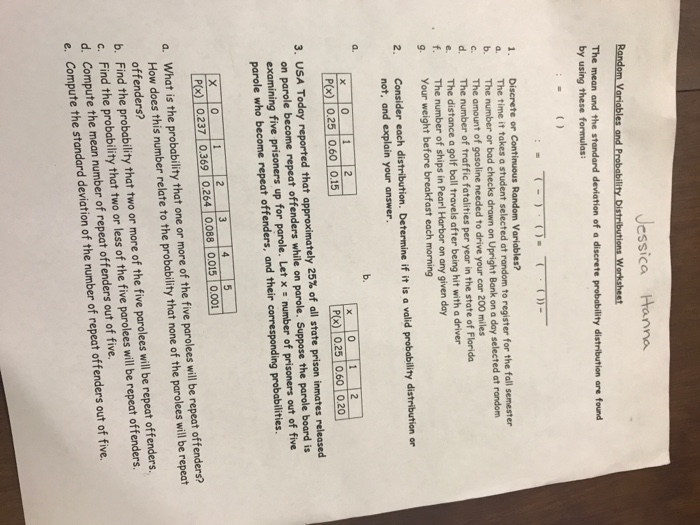 Probability And Statistics Worksheets With Answers Choice Image