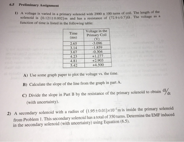 Solved: 6.5 Preliminary Assignment 1) A Voltage Is Varied ...