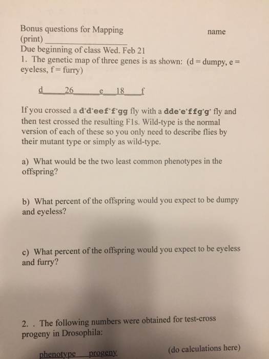 Bonus Questions For Mapping Print) Due Beginning O