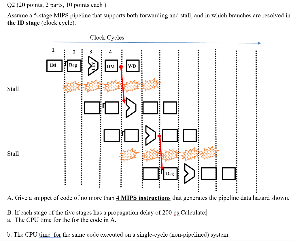 Parts Of A Stage >> Solved Q2 20 Points 2 Parts 10 Points Each Assume A 5