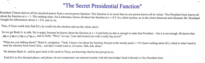 Solved: President Clinton Derives All His Mystical Power F