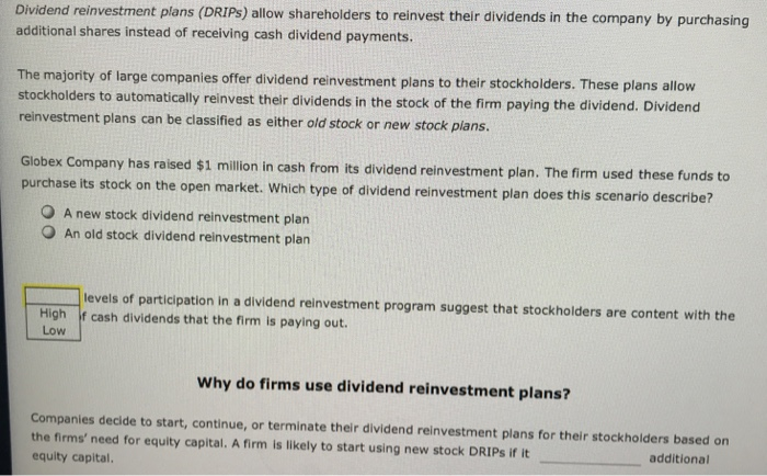 Tcap dividend reinvestment cost investment banking pdf rosenbaum contemporary