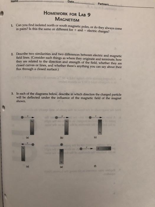magnetism homework