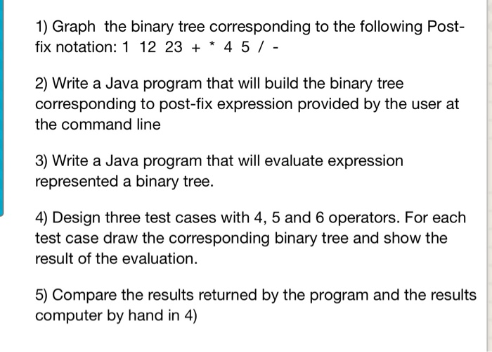 Solved: 1) Graph The Binary Tree Corresponding To The Foll